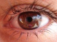 oko z soczewką kontaktową